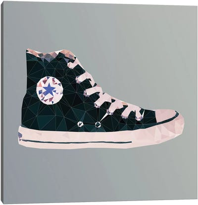 Chuck Taylor All-Stars: Black Canvas Art Print