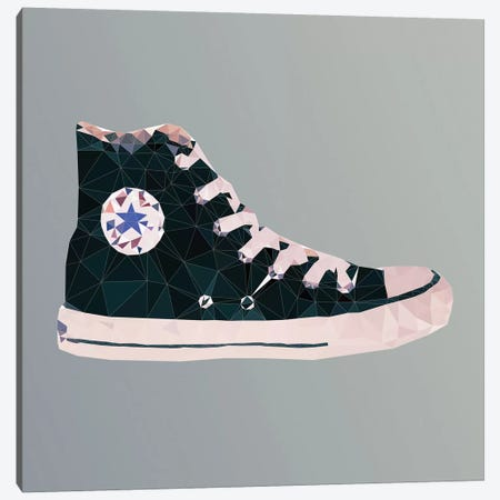 Chuck Taylor All-Stars: Black Canvas Print #GSS23} by 5by5collective Art Print