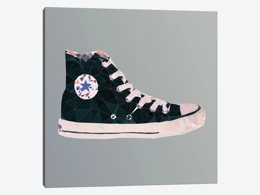 Chuck Taylor All-Stars: Black by 5by5collective 1-piece Canvas Print