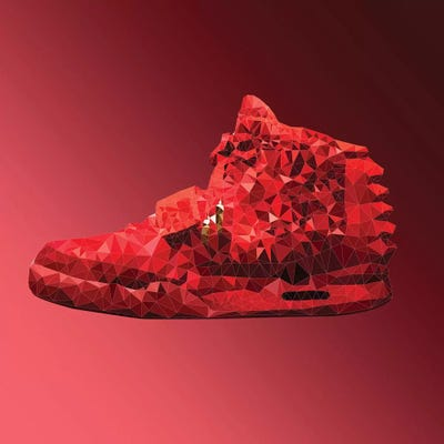91903cad36d Air Yeezy 2  Red October Canvas Print by 5by5collective