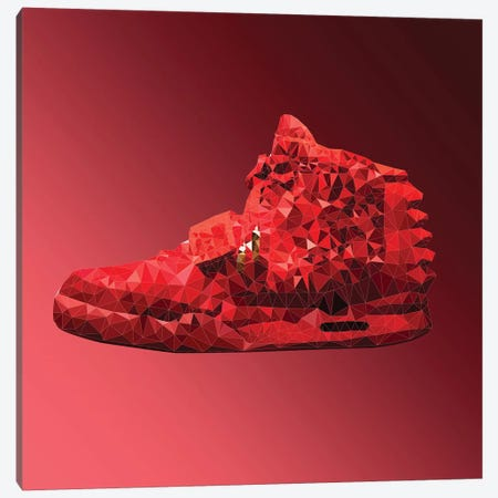 Air Yeezy 2: Red October Canvas Print #GSS34} by 5by5collective Art Print