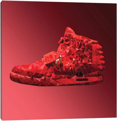 Air Yeezy 2: Red October Canvas Print #GSS34