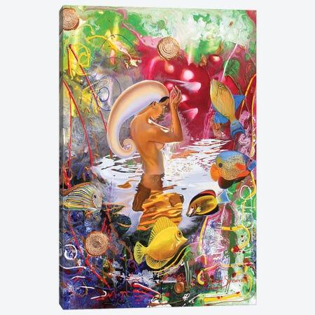 Aquarius Coming 3-Piece Canvas #GST109} by Graeme Stevenson Canvas Artwork