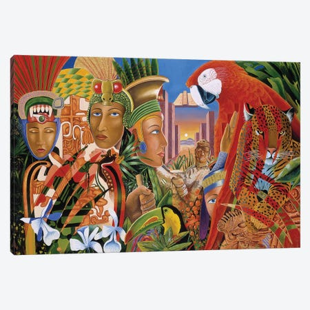 Aztec Days Canvas Print #GST118} by Graeme Stevenson Canvas Art Print
