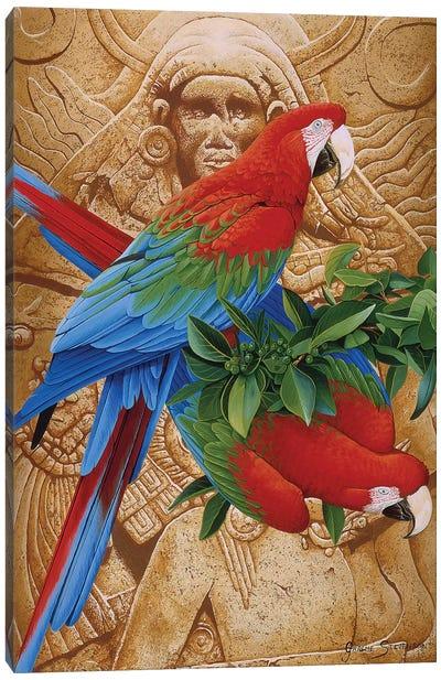 Aztec Rainbow Canvas Art Print