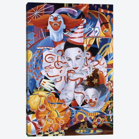 Be A Clown Canvas Print #GST121} by Graeme Stevenson Canvas Artwork