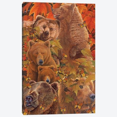Bears Are There Canvas Print #GST122} by Graeme Stevenson Canvas Artwork