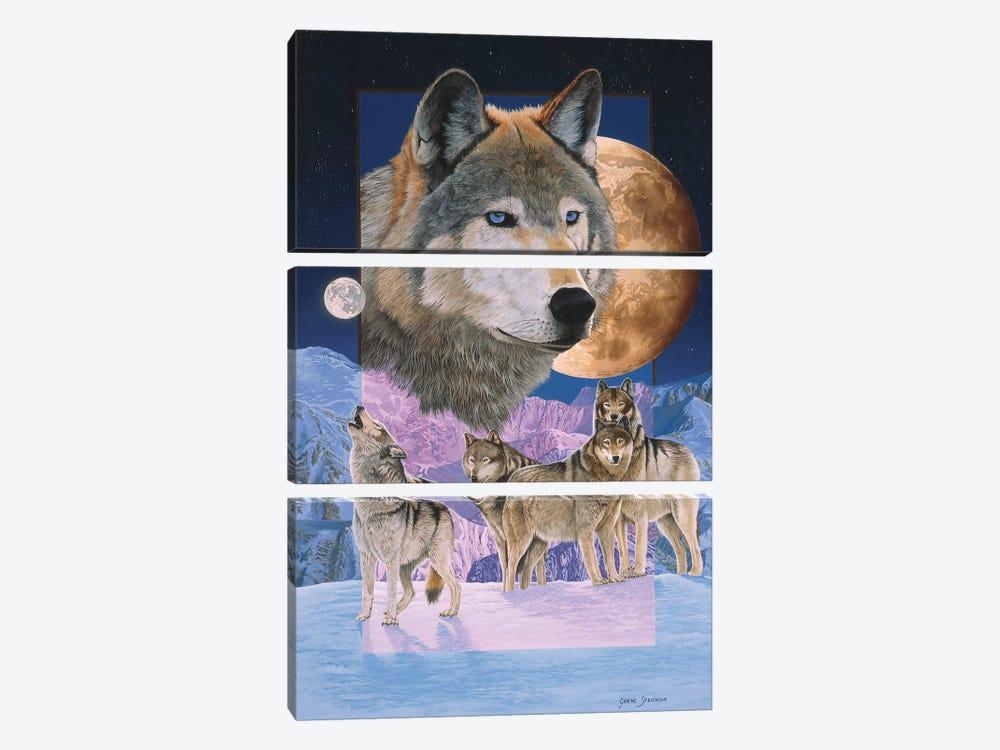 Blue Moon by Graeme Stevenson 3-piece Canvas Art