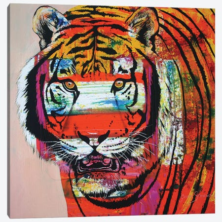 Burning Bright Eyes Canvas Print #GST137} by Graeme Stevenson Canvas Art