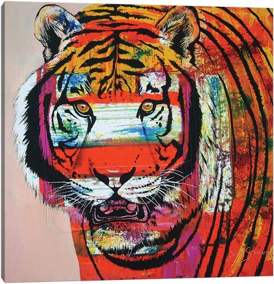 Burning Bright Eyes Canvas Art Print