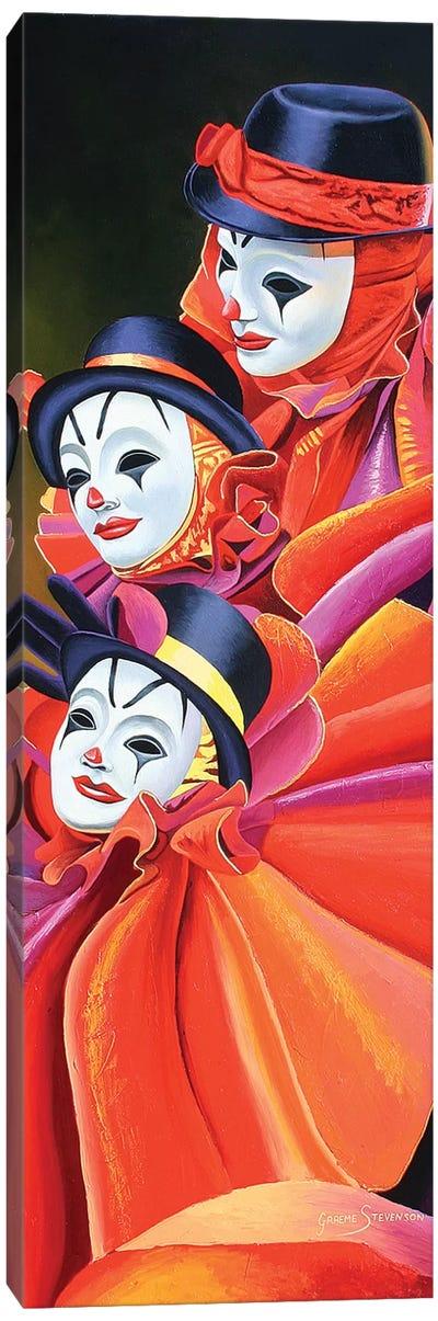 Carnival Clown Canvas Art Print