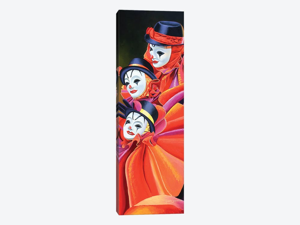 Carnival Clown by Graeme Stevenson 1-piece Canvas Art Print