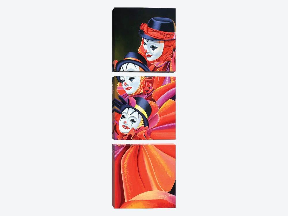 Carnival Clown by Graeme Stevenson 3-piece Canvas Print