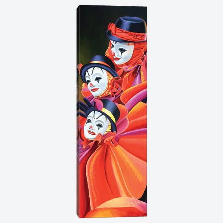 Carnival Clown 3-Piece Canvas #GST140} by Graeme Stevenson Canvas Wall Art