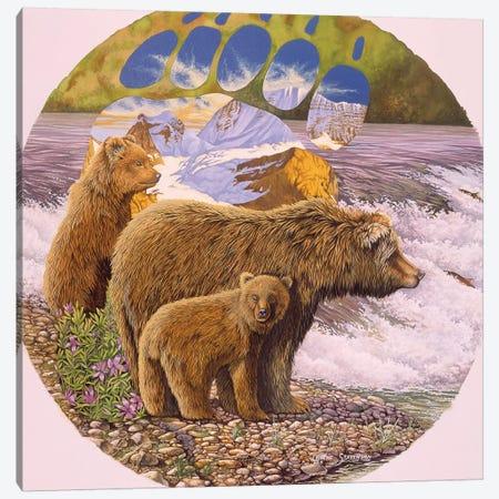Down At The Stream Canvas Print #GST159} by Graeme Stevenson Art Print