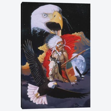 Eagle Warrior Canvas Print #GST160} by Graeme Stevenson Canvas Artwork