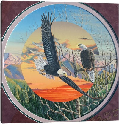 Eagles Canvas Art Print