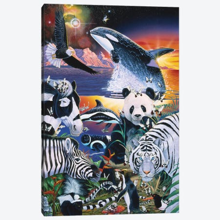 Ebony And Ivory Canvas Print #GST163} by Graeme Stevenson Canvas Wall Art