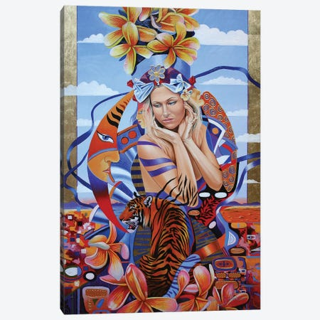 Electric Madonna Canvas Print #GST166} by Graeme Stevenson Art Print