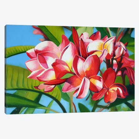 Flowers Canvas Print #GST174} by Graeme Stevenson Canvas Art