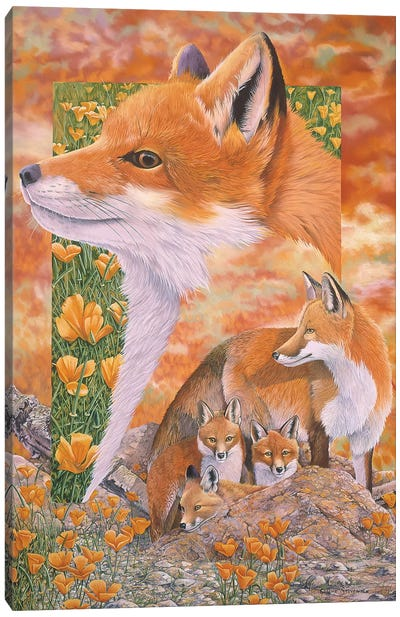 Foxes Canvas Art Print