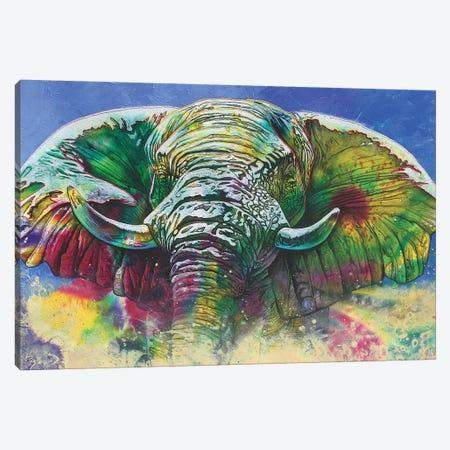 Green Dust Canvas Print #GST182} by Graeme Stevenson Canvas Artwork