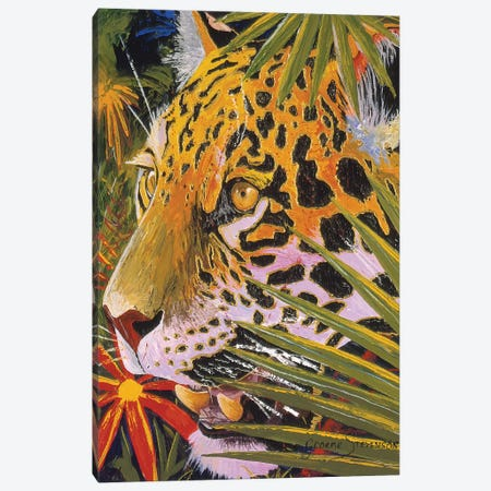 Jaguar Jungle 3-Piece Canvas #GST193} by Graeme Stevenson Canvas Print
