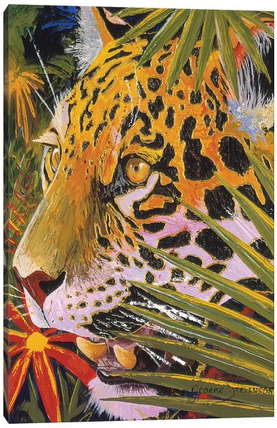 Jaguar Jungle Canvas Art Print