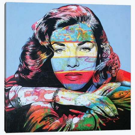 Just Like Bacall Canvas Print #GST196} by Graeme Stevenson Canvas Art