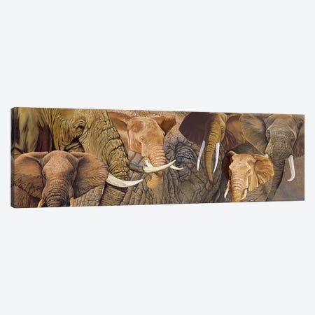 Long Ele 3-Piece Canvas #GST207} by Graeme Stevenson Canvas Artwork