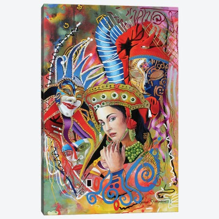 Mardi Gras Canvas Print #GST210} by Graeme Stevenson Canvas Wall Art