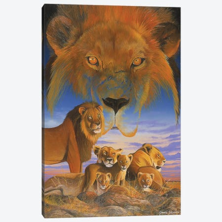 Masai Morning Canvas Print #GST211} by Graeme Stevenson Canvas Artwork