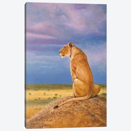 Masai Watch Canvas Print #GST212} by Graeme Stevenson Canvas Art