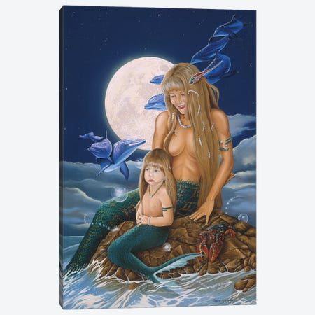 Mermaids Canvas Print #GST215} by Graeme Stevenson Art Print