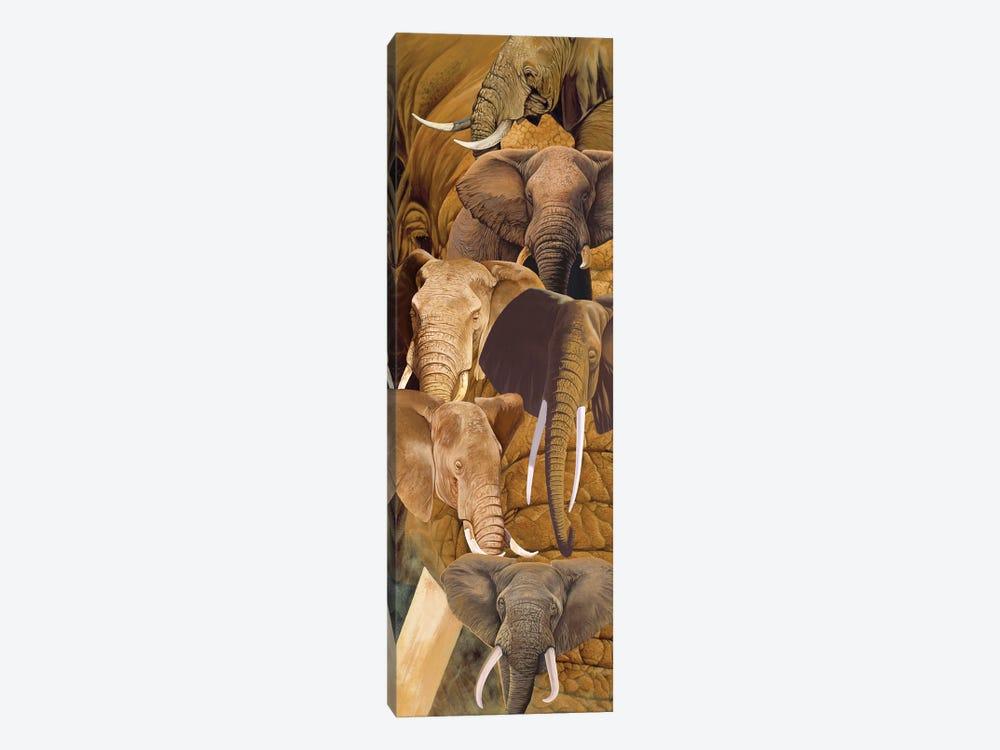 Elephant heads by Graeme Stevenson 1-piece Canvas Artwork