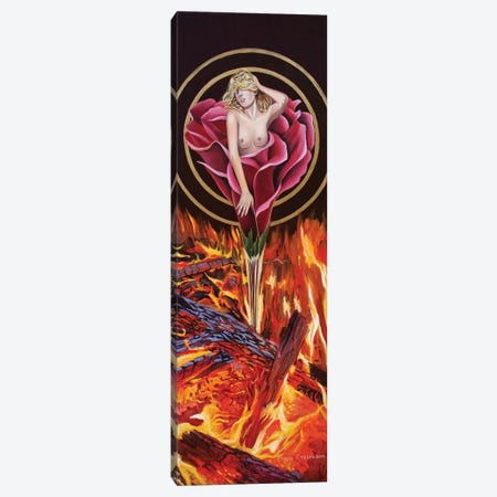 Fire Rose Canvas Print #GST23} by Graeme Stevenson Canvas Art