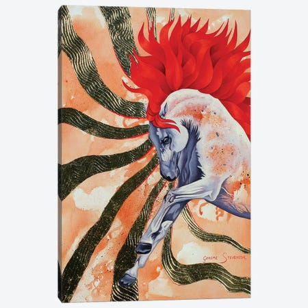 Red Stallion Canvas Print #GST242} by Graeme Stevenson Canvas Art Print