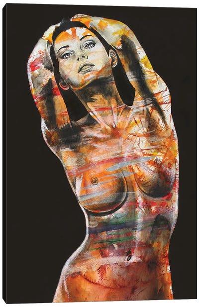 The Black Dahlia Canvas Art Print