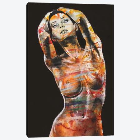 The Black Dahlia Canvas Print #GST272} by Graeme Stevenson Canvas Wall Art