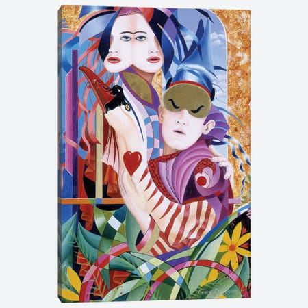 The Lovers Canvas Print #GST294} by Graeme Stevenson Art Print