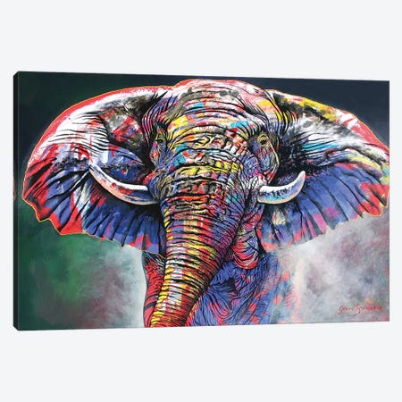 The Rainbow Bull Canvas Print #GST301} by Graeme Stevenson Canvas Wall Art