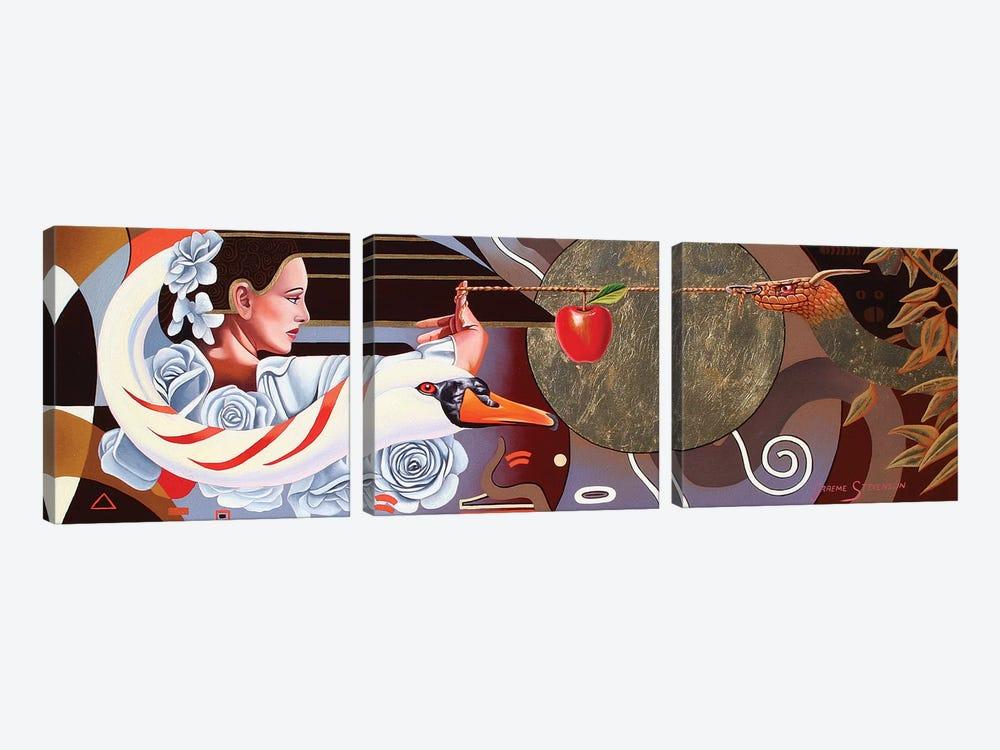 The Temptation Of Eve by Graeme Stevenson 3-piece Art Print