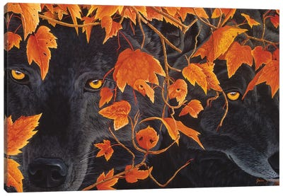 Three Wolves Canvas Art Print