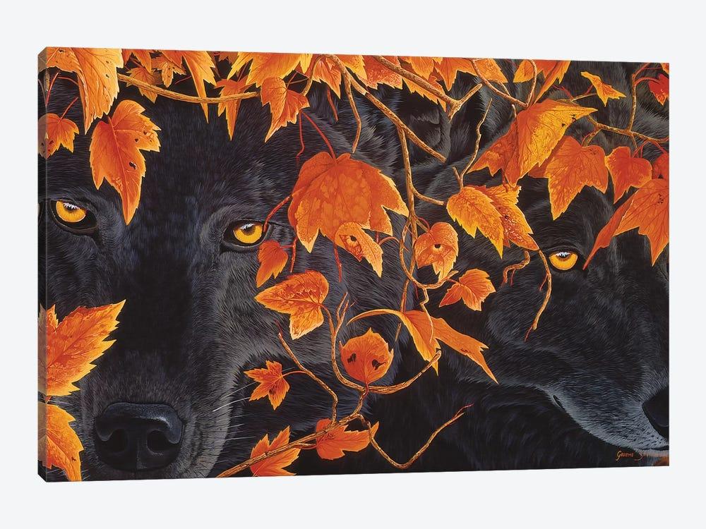 Three Wolves by Graeme Stevenson 1-piece Canvas Artwork
