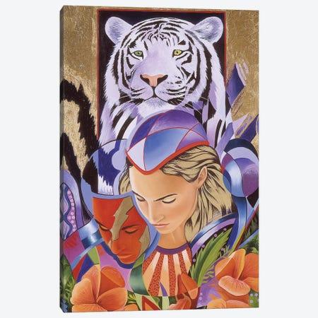 Tiger Think Canvas Print #GST320} by Graeme Stevenson Canvas Wall Art