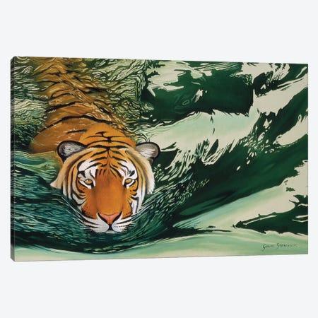 Tiger Waters Canvas Print #GST322} by Graeme Stevenson Canvas Art