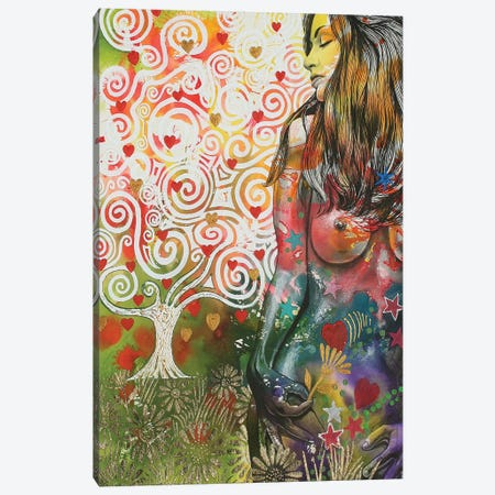 Tree Of Love Canvas Print #GST329} by Graeme Stevenson Canvas Wall Art