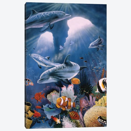 Twilight 3-Piece Canvas #GST330} by Graeme Stevenson Canvas Art Print