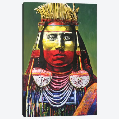 Indian Chief Canvas Print #GST33} by Graeme Stevenson Canvas Art Print