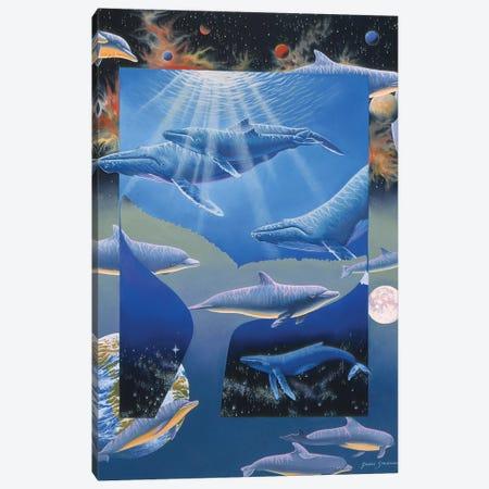 Whale Song 3-Piece Canvas #GST341} by Graeme Stevenson Canvas Art